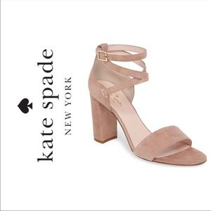 🆕 {Kate Spade} Strappy Suede Heel Sandals